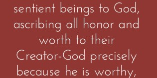 Worship God and experience His glory